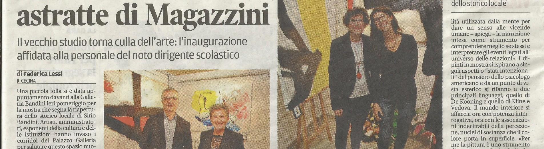 """""""La ricerca del significato """" esposizione personale presso la Galleria d'arte Bandini di Cecina dal 13 al 27 ottobre 2013"""